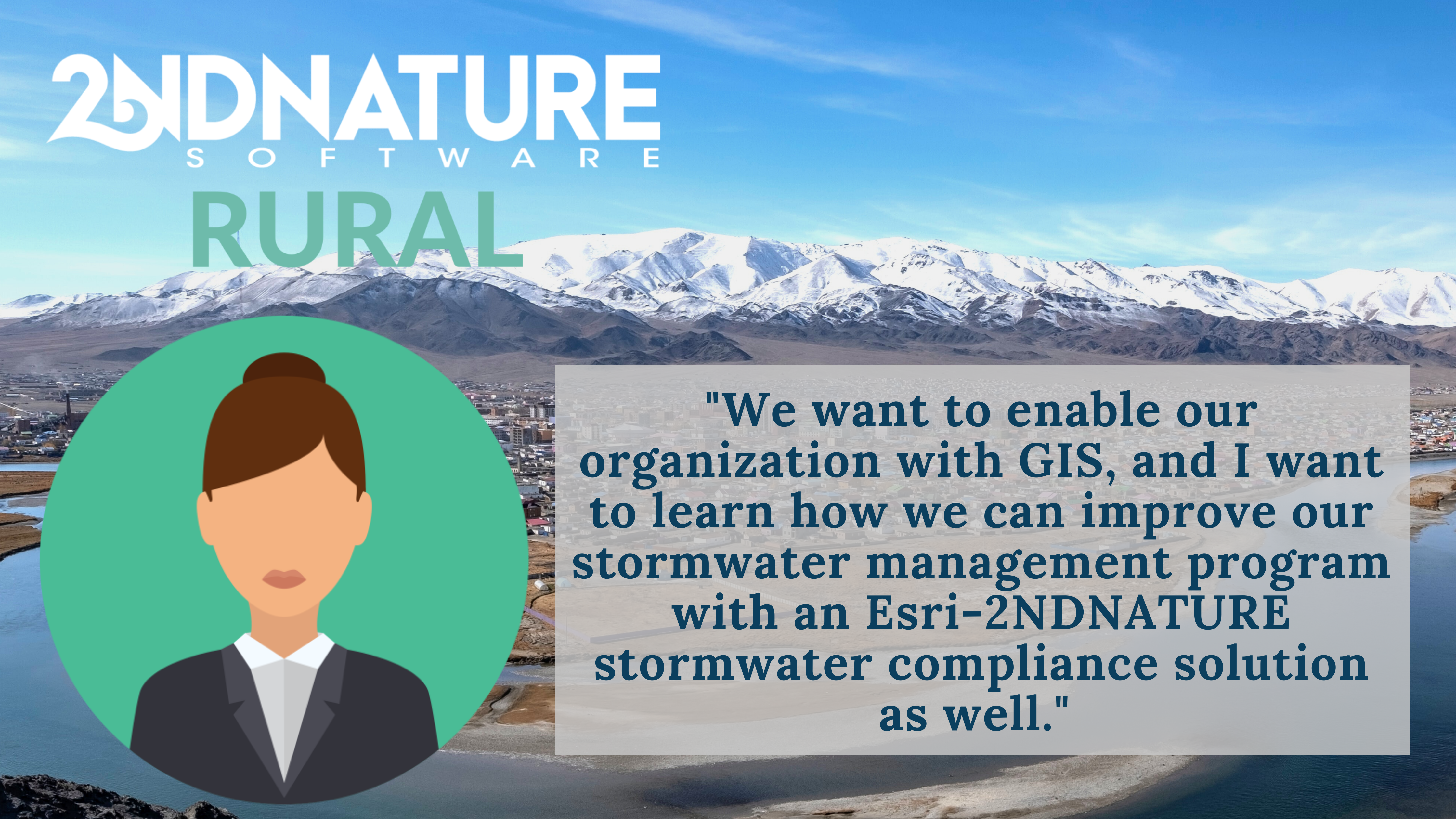 2NDNATURE RURAL Stormwater Software Solution built on Esri ArcGIS
